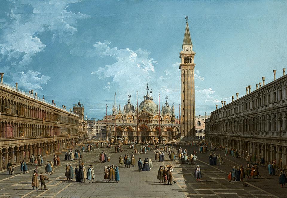 Vista de la plaza de San Marcos, Venecia, hacia el este