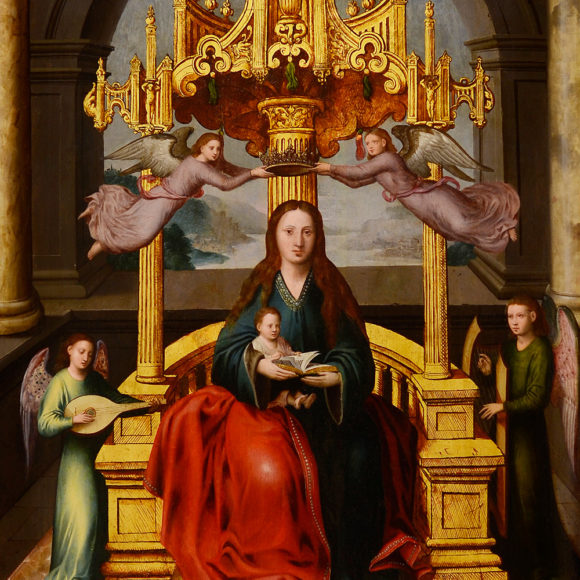 Virgen con el Niño y ángeles músicos