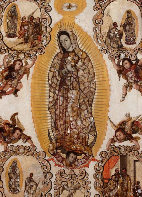 Enconchado de la Virgen de Guadalupe