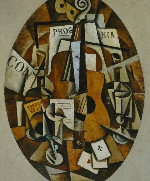 Bodegón con guitarra